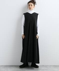 【ATON/エイトン】 SECOND SKIN WOOL FLARED DRESS