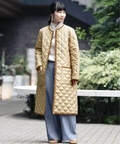 【TRADITIONAL WEATHERWEAR】 ARKLEY ノーカラーロングコート◆