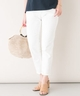 ROSSO Munich white denim slouch pants
