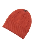 GF Leather Strap Knit cap オレンジ / レンガ