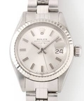 ROLEX OYSTER SM SS+18kwg Silver