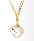【Lizzie Fortunato/リジーフォルトゥナート】 Vence Heart Necklace in:ネックレス