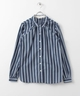 URBAN RESEARCH WORK NOT WORK STRIPE SMALL COLLAR SHIRTS