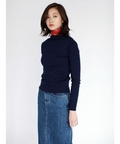 【AZUL by moussy(アズールバイマウジー)】14Gリブボートネック長袖プルオーバー