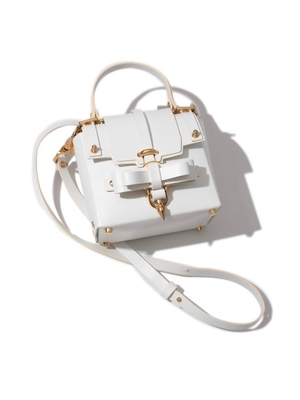 BOW BUCKLE 3PM BAG/WHT