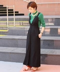 《予約》【AMERI/アメリ】別注 MANY BUTTON SALOPETTE DRESS