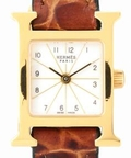HERMES mini H Watch GF white