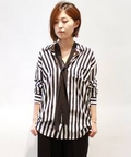 EQUIPMENT STRIPE SHIRT WITH TIE◆