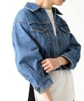 【PHEENY】 11oz loose denim jacket