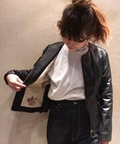 【GOLDEN GOOSE/ゴールデングース】  OVINE LEATHER JACKET◆