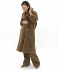 *YVES SALOMON OVERSIZE W MOUTON COAT◆