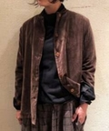 【Khadi & Co/カディ&コー】  Collarless Jacket(Velvet)