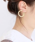 【JANE SMITH】 TRINITY CIRCLE EARRING◆