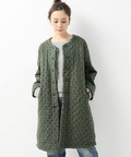 ☆【SOIL×Luxe】 WOOL SINGLE FLOWER QUILTED COAT