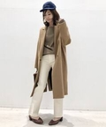 *32paradis Camel Chester Coat◆