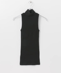 SBTRACT RIB STITCH TANK TOP(HI-NECK)