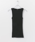 SBTRACT RIB STITCH TANK TOP(BOAT-NECK)