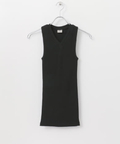 SBTRACT RIB STITCH TANK TOP(V-NECK)