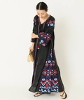 MARCH11 EMBROIDERY BLACK GOWN