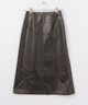 AURALEE WOOL CASHMERE LAMINATE SKIRT