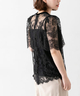 AVERY ROW PUFF SLV LEAVER LACE BLOUSE