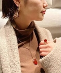 【FARIS/ファリス】OVO Y NECKLACE BRONZE CARNELIAN:ネックレス